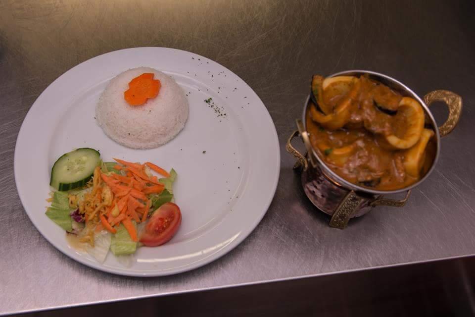 Calamari mit Auberginen Curry