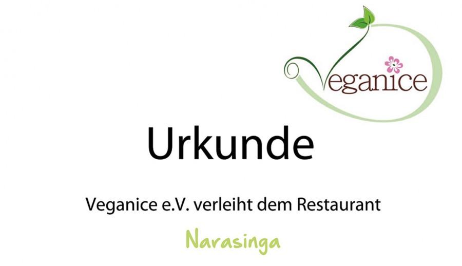 URKUNDE Veganice e.V. 2014